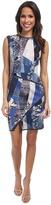 ABS by Allen Schwartz Digital Print Scuba Dress w/ Asymmetric Hem