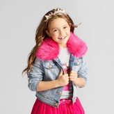 Cat & Jack Girls' Jean Jacket with Fur Collar - Cat & Jack Light Blue