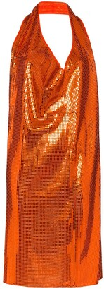 Bottega Veneta Cowl-Neck Sequinned Mini Dress