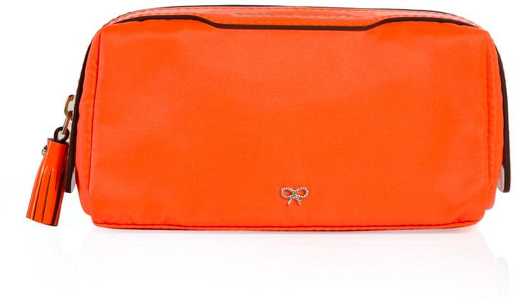 Anya Hindmarch Girlie Stuff Makeup Bag in Orange