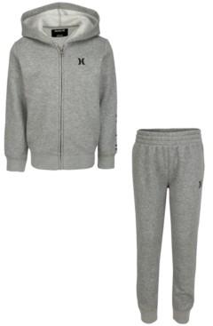 Hurley Toddler Boys 2-Pc. Fleece Hoodie & Jogger Pants Set