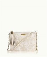 GiGi New York Chelsea Crossbody Metallic Lizard