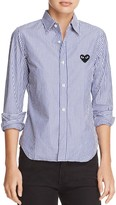 Comme des Garcons Heart Striped Shirt