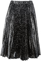 No.21 pleated midi skirt - women - Silk/Polyester - 44