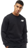 New Balance Mens Fleece Crew Sweatshirt Black