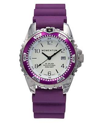 Momentum Women's Quartz Watch | M1 Splash by Momentum| Stainless Steel Watches for Women | Dive Watch with Japanese Movement & Analog Display | Water Resistant ladies watch with Date -Lume / Rubber