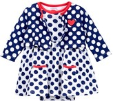 Offspring Dot Bodysuit Dress & Cardigan Set (Baby Girls)