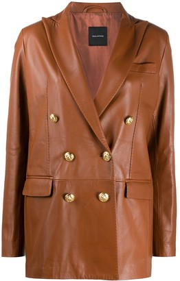 Tagliatore Josie leather coat