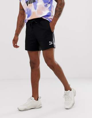 Puma tie-dye shorts in black