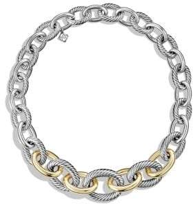 David Yurman Medium Oval Chain Necklace With 14K Gold