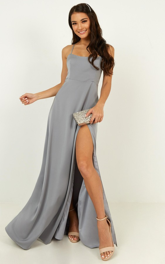 Showpo Will it be us dress in dusty blue - 6 (XS) Bridesmaid