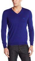 HUGO BOSS BOSS Green Men's C-Callum Merino Extrafine Regular-Fit V-Neck Sweater
