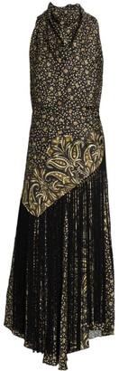 Jonathan Simkhai Dahlia Paisley Print Handkerchief Midi Dress