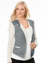 A Pea in the Pod Drew Open Front French Terry Maternity Jacket