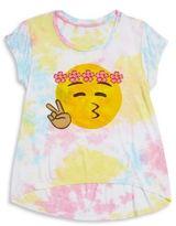Flowers by Zoe Girl's Emoji Graphic Tee