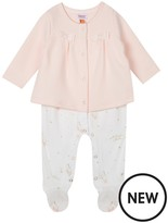 Ted Baker Baby Girls' Light Pink Quilted Romper Suit