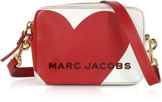 Marc Jacobs The Box Heart Intarsia Cotton Leather Crossbody Bag