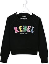 DSQUARED2 rebel embroidered sweatshirt - kids - Cotton - 4 yrs