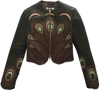 Givenchy Brown Leather Leather Jacket for Women
