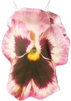 Christopher Kane Pansy sleeveless blouse - women - Silk/Nylon/Polyester/Acetate - 40
