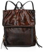 John Varvatos Plaid Haircalf Fold Backpack