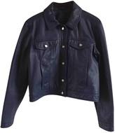 Comptoir des Cotonniers Blue Leather Leather Jacket for Women