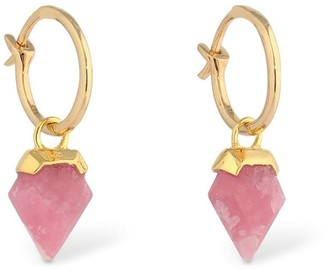 Missoma Mini Rhodochrosite Shield Hinged Hoops