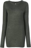 Rick Owens longline jumper - women - Virgin Wool - S