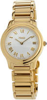Fendi 32mm Golden Stainless Steel Classico Bracelet Watch