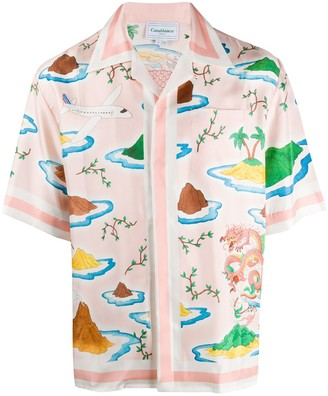 Casablanca Printed Bowling Shirt