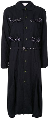 COMME DES GARÇONS GIRL Ruffled Trim Shirt Dress
