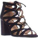 Franco Sarto Meena Heeled Lace-up Sandals, Black.