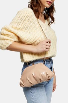Topshop Camel Patent Mini Clutch Bag