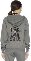 Peace Love World Love Each Other Zip Hoodie