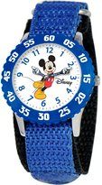 Disney Kids' W000234 Mickey Mouse Stainless Steel Time Teacher Watch with Moving Hands