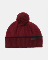 Ted Baker Twill knitted bobble hat