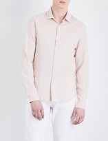 Sandro Regular-fit linen and cotton-blend shirt