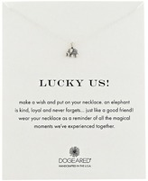 Dogeared Lucky Us Elephant Reminder Necklace