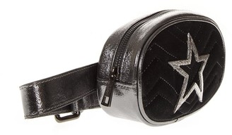 Marc Ellis Shila Grey Leather Beltbag