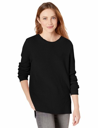 Goodthreads Amazon Brand Women's Cotton Shaker Stitch Crewneck Sweater