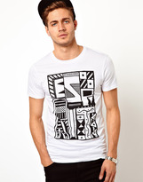 Esprit T-Shirt With Tribal Print