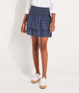 Vineyard Vines Stingray Print Smocked Skirt