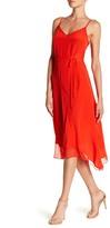Elie Tahari Shirley V-Neck Silk Dress
