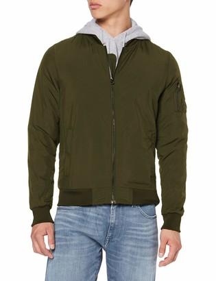 Build Your Brand Men's Nylon Bomber Jacket