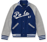 Ralph Lauren Lightweight Terry Baseball Jacket, Size 5-7