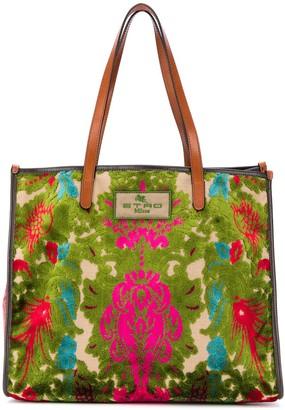 Etro Jacquard Embroidered Tote