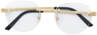 Cartier rimless round shaped glasses