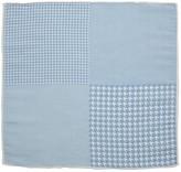 The Tie Bar Light Blue Linen Houndstooth Pane Pocket Square