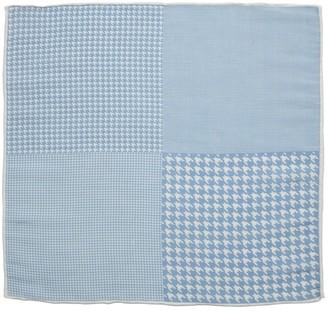 Proenza Schouler The Tie BarThe Tie Bar Light Blue Linen Houndstooth Pane Pocket Square