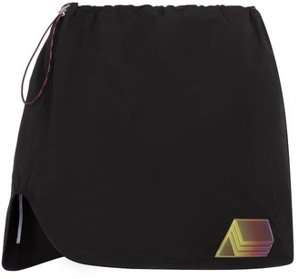 ATTICO Giana drawstring canvas miniskirt